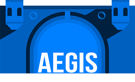 AEGIS name in entrance to Blue Castle